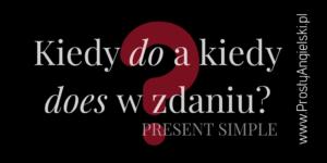 kiedy dodoes present simple